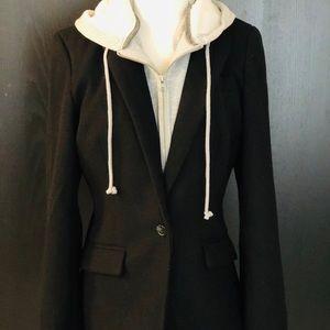 Cynthia Rowley Navy blazer w/ removable hoodie